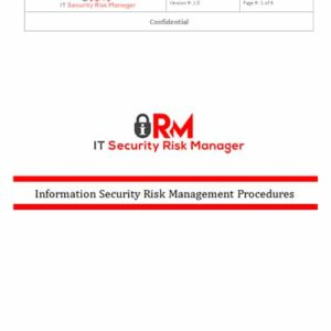 Information Security Risk Management Procedures