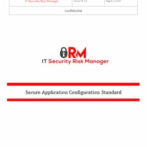 Secure Application Configuration Standard