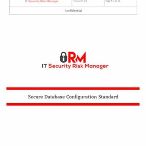 Secure Database Configuration Standard