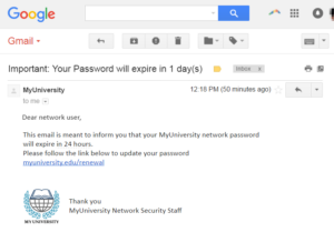 email phishing scam