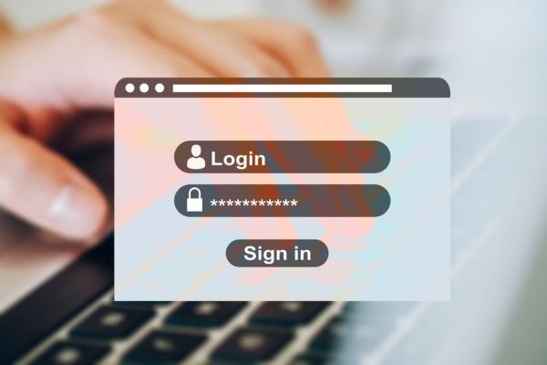 login password screen